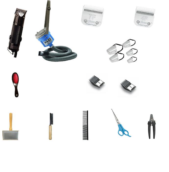 Kit Banho e Tosa Econômico - 17 Itens - com Golden A5 127V  - ElanTrade Máquinas e Equipamentos para Estética Animal