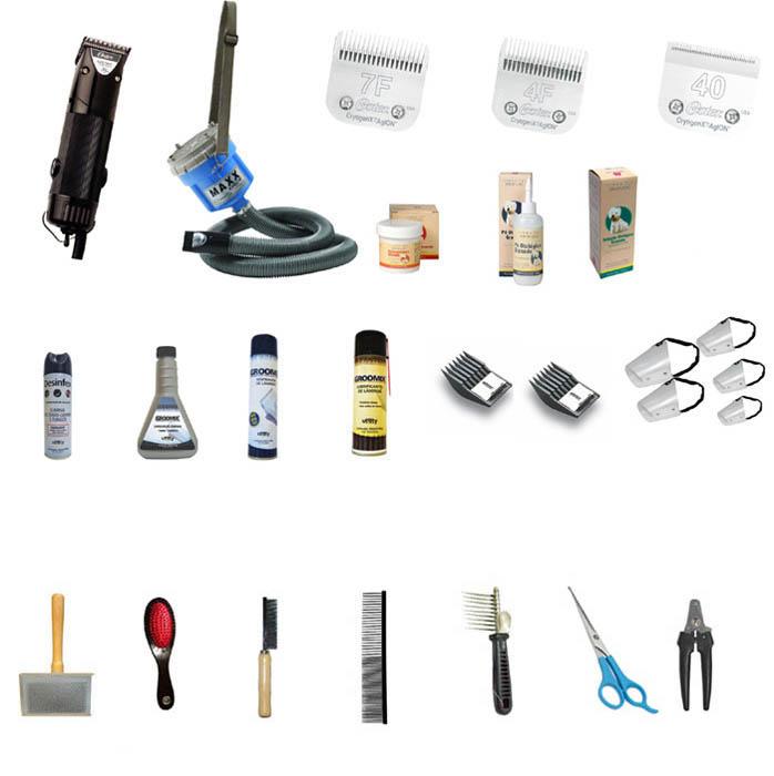 Kit Banho e Tosa BÁSICO - 26 Itens - com Golden A5 220V  - ElanTrade Máquinas e Equipamentos para Estética Animal