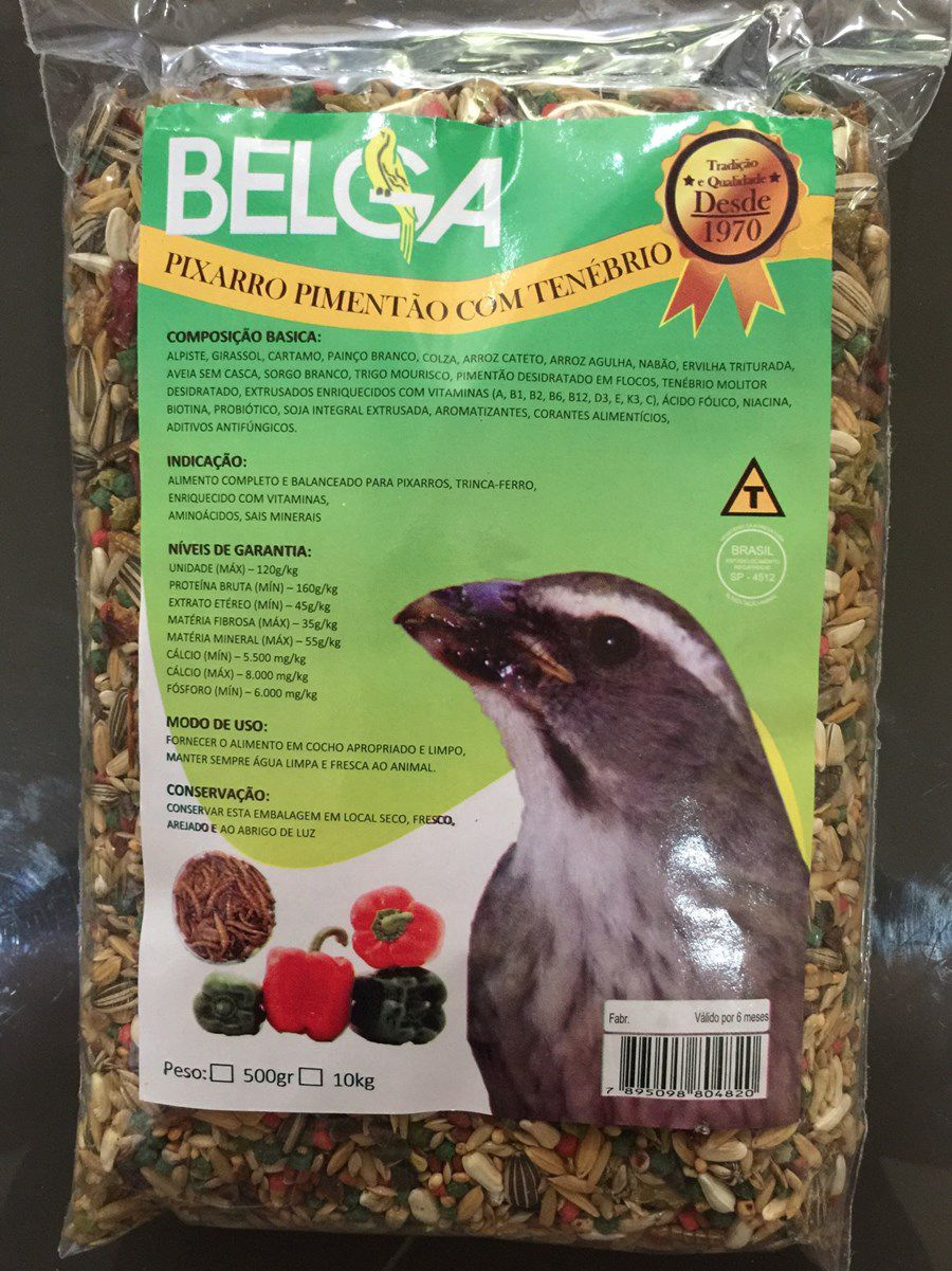 Mistura Especial Belga Trinca Ferro ( Pimentão c/ Tenebrio )
