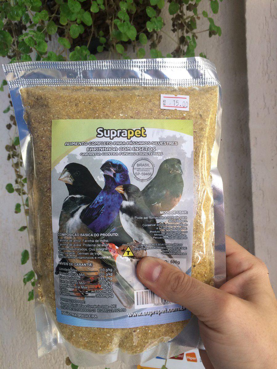 Farinhada completa para pássaros silvestres com insetos 500g