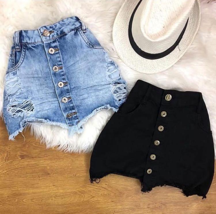 97a5099b6 Saia jeans botões - 5 Avenida Store