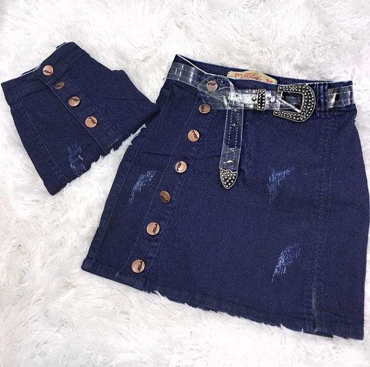 40cc372af Saia Jeans botões lateral - 5 Avenida Store