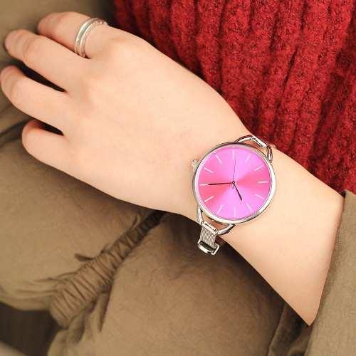 0ffff713fb0 Relógio Feminino Em Aço Inoxidável Elegante Luxo Barato Cmk - Shop Perez