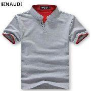 a683370c27 Camisa Masculina Casual De Malha Cinza Manga Curta