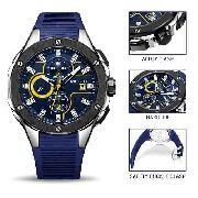 5551182b464 Relógio Masculino Megir 2053 Esporte Silicone Cronógrafo