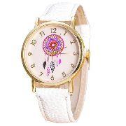 a705d20ce83 Relógio Casual Dress Pulseira De Couro Quartzo Branco Xiniu