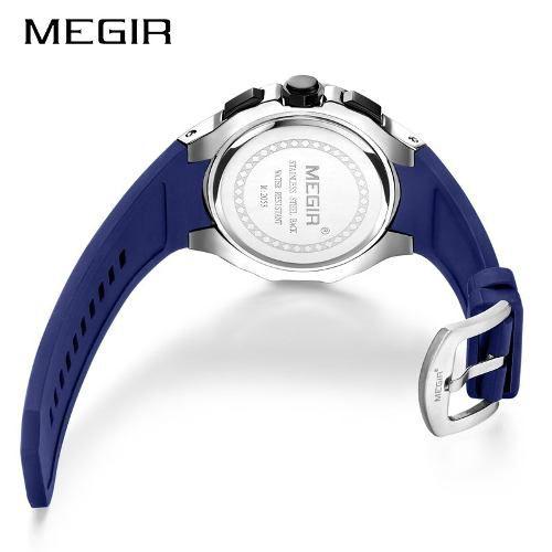 ca465b5f519 Relógio Masculino Megir 2053 Esporte Silicone Cronógrafo - Shop Perez