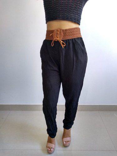 01c41a327 Calça Feminina Soltinha Viscose Com Cinto Confortável - Shop Perez