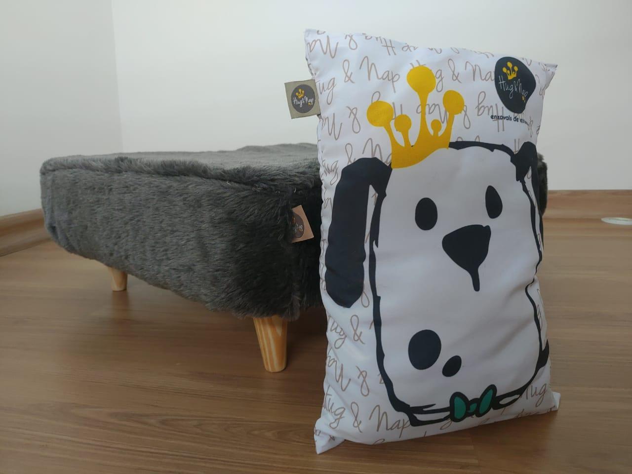 Capa de Pelúcia para Cama Box Hug&Nap - Grafite