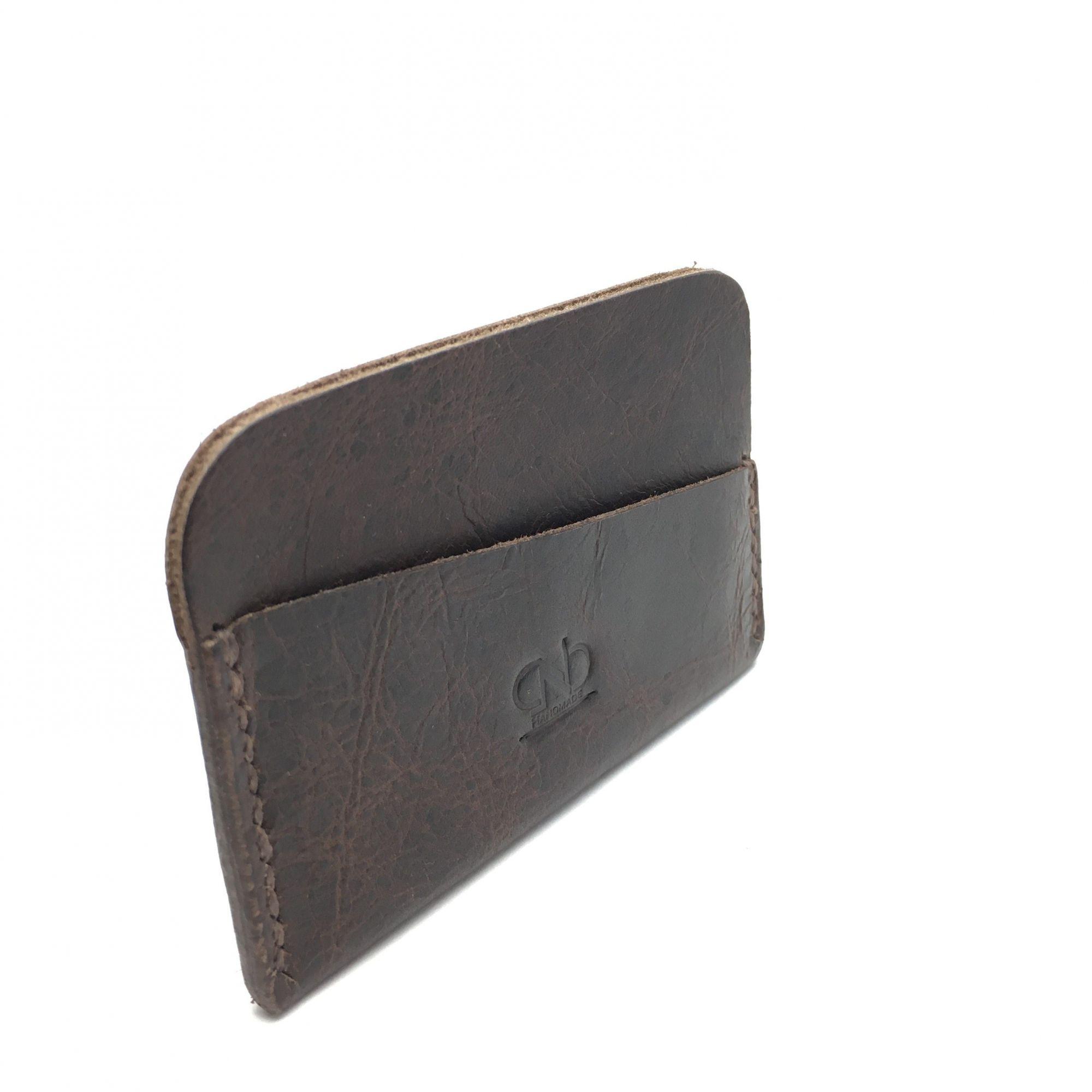 c0507ebcc ... Carteira Porta Cartões Slim CNB Couro Legítimo Feito à Mão ...