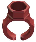 Anel Porta Batoque Vermelho
