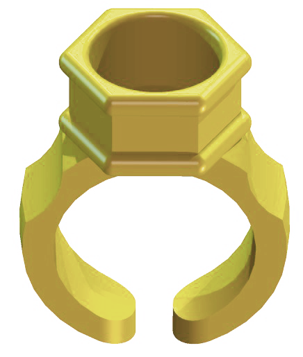 Anel Porta Batoque Amarelo
