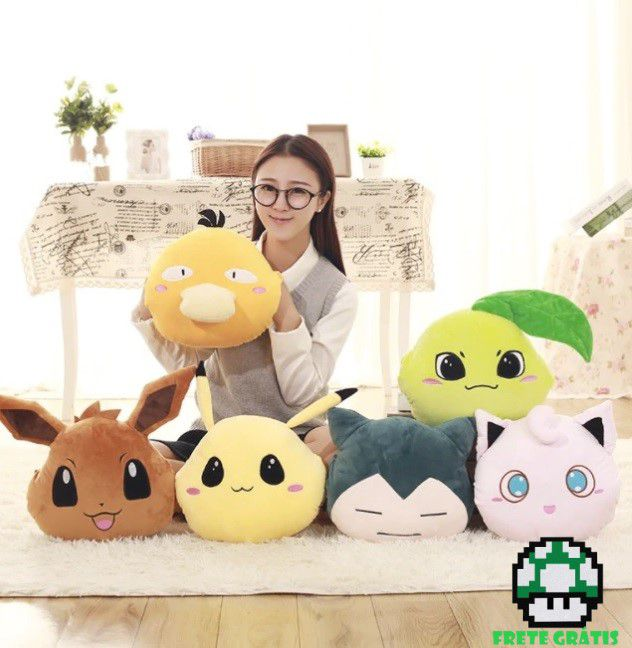 Almofada de Pelúcia Pokémon - Envio Internacional - Frete Grátis