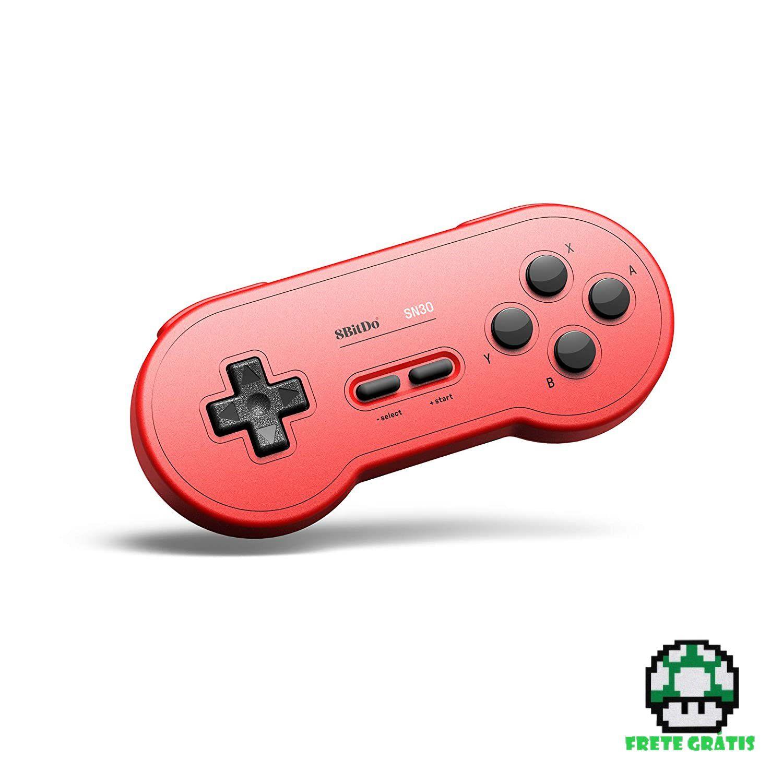Controle SN30 8BitDo - Nintendo Switch - Envio Internacional - Frete Grátis