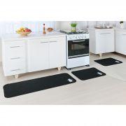 a90b8cf15 Jogo de Tapete Cozinha 3 Peças Antiderrapante Bordado Pinguim Oásis