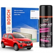 Filtro De Cabine Ar Condicionado Bosch Fiat Mobi + Spray Higienizador