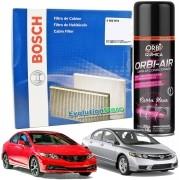 Filtro De Cabine Ar Condicionado Bosch New Civic 2007 À 2015 + Spray Higienizador