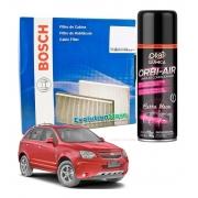 Filtro De Cabine Ar Condicionado Captiva Com Spray Higienizador   Bosch 0986BF0597
