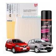 Filtro De Cabine Ar Condicionado Renault Clio Symbol Com Spray Higienizador | Mahle MetalLeve LA87
