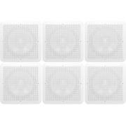 KIT 6x Arandela Quadrada Com Alto Falante JBL Flex 6 Polegadas Som Ambiente Gesso Embutir Teto