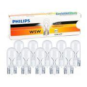 Lâmpada Comum 12v W5w Philips 12961 Pingo T10 Caixa 10 Unidades