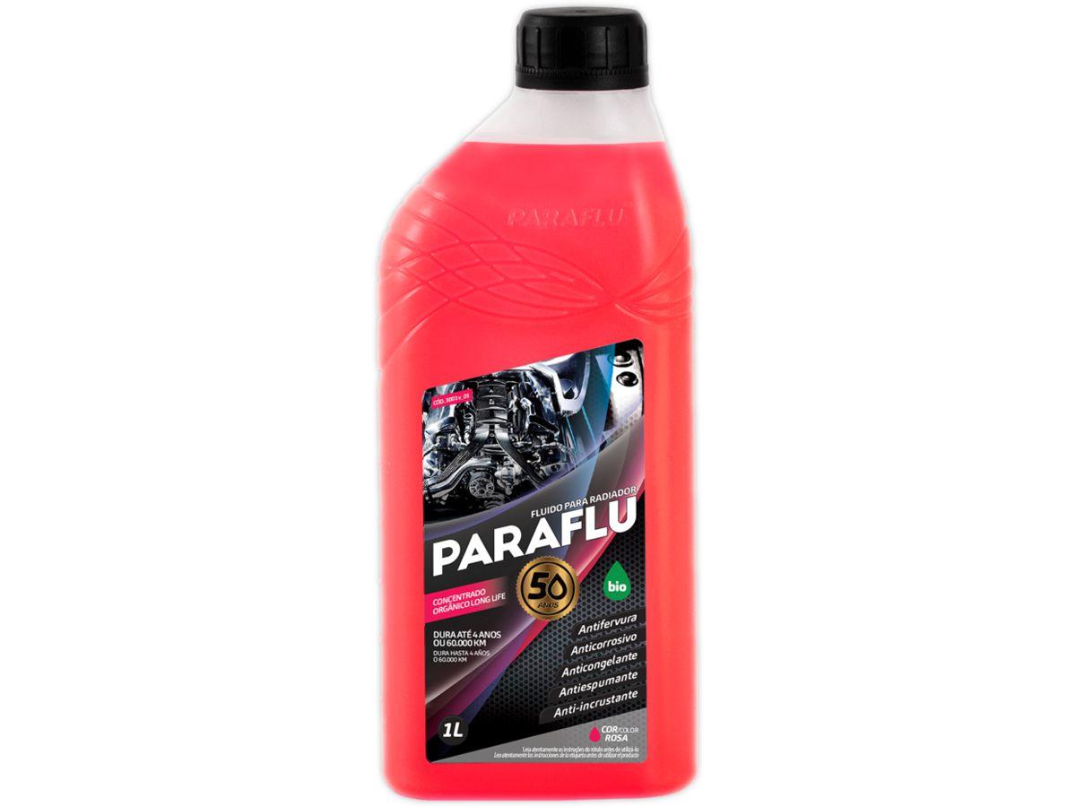 Aditivo Radiador Paraflu Bio Orgânico Concentrado Rosa 1 Litro  - EvolutionStore - Peças e Acessórios Automotivos