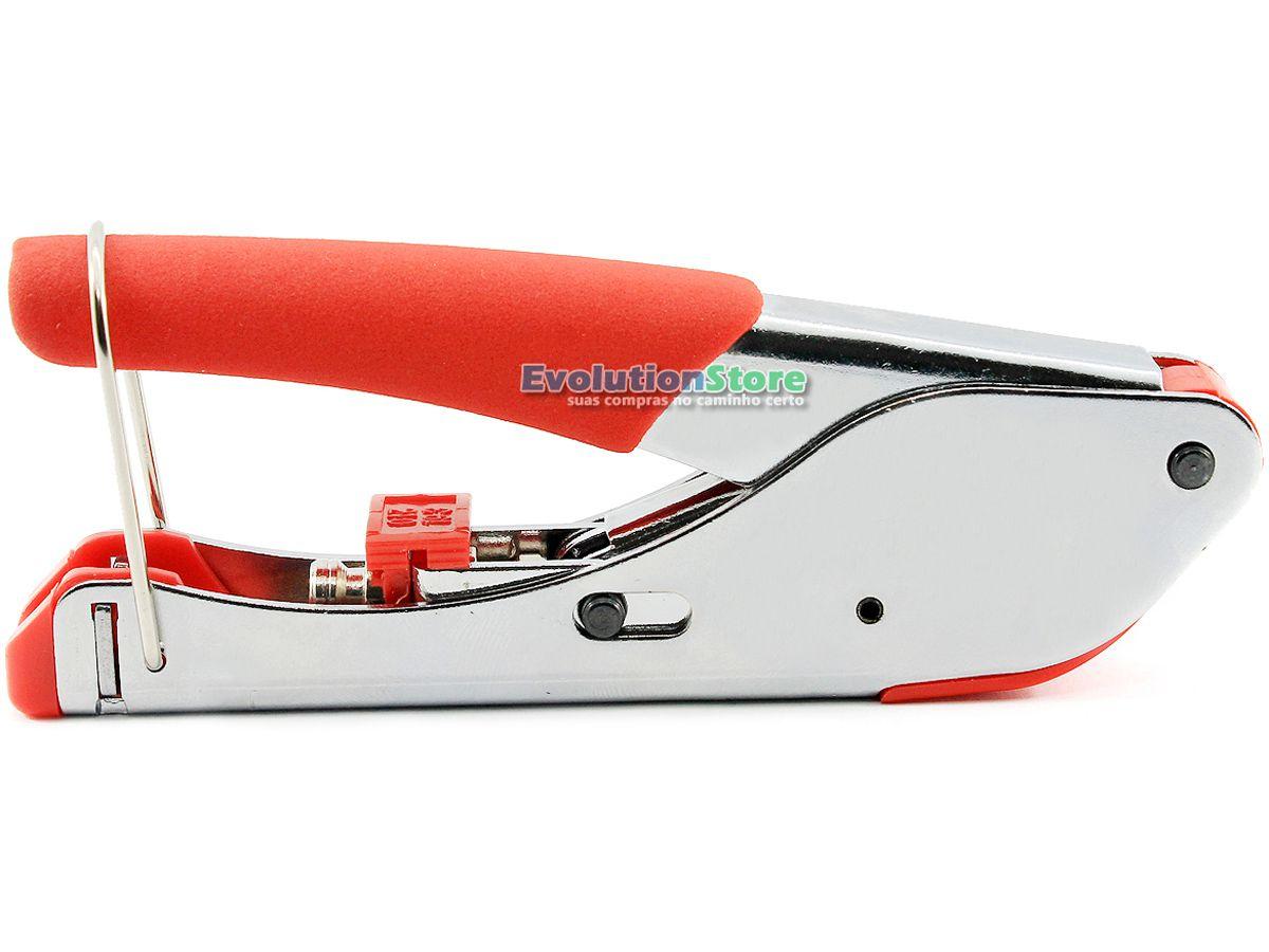 Alicate Crimpar Compressão Cabo Coaxial Conector Rg6 Rg59  - EvolutionStore - Peças e Acessórios Automotivos