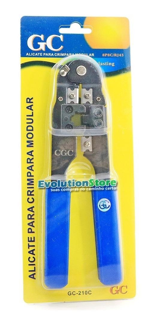 Alicate De Crimpar Decapar e Corte Cabo De Rede Rj45 Gc-210c  - EvolutionStore - Peças e Acessórios Automotivos