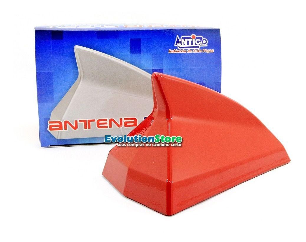Antena Shark Decorativa Antico VERMELHA AN076  - EvolutionStore - Peças e Acessórios Automotivos