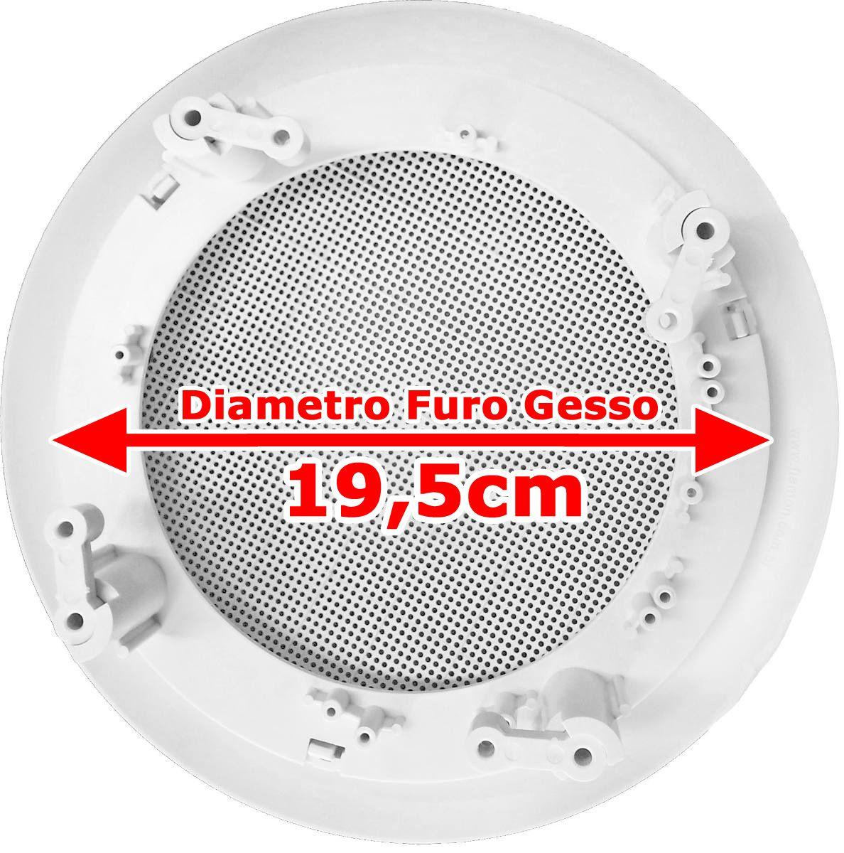 Arandela Redonda 6 Polegadas Branca P/ Falante Teto De Gesso Fiamon1258  - EvolutionStore - Peças e Acessórios Automotivos