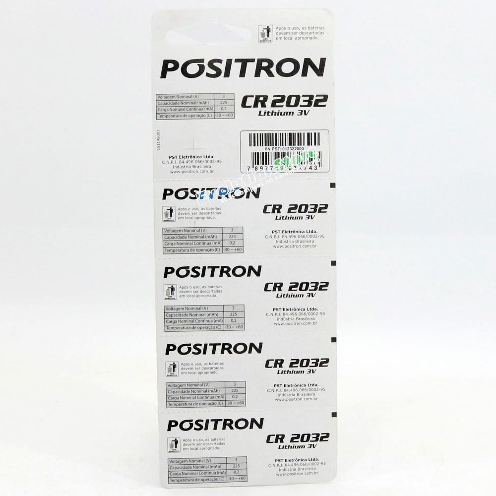 Bateria Pilha Controle De Alarme Pósitron Cr2032 5 Unidades  - EvolutionStore - Peças e Acessórios Automotivos