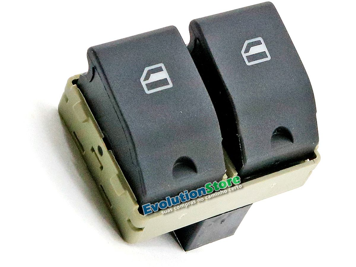 Botão Interruptor Vidro Elétrico Gol G4 G5 G6 Fox Voyage Saveiro Duplo  - EvolutionStore - Peças e Acessórios Automotivos