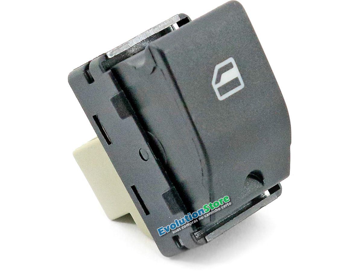 Botão Vidro Elétrico Gol G4 G5 G6 Fox Voyage Saveiro Simples  - EvolutionStore - Peças e Acessórios Automotivos