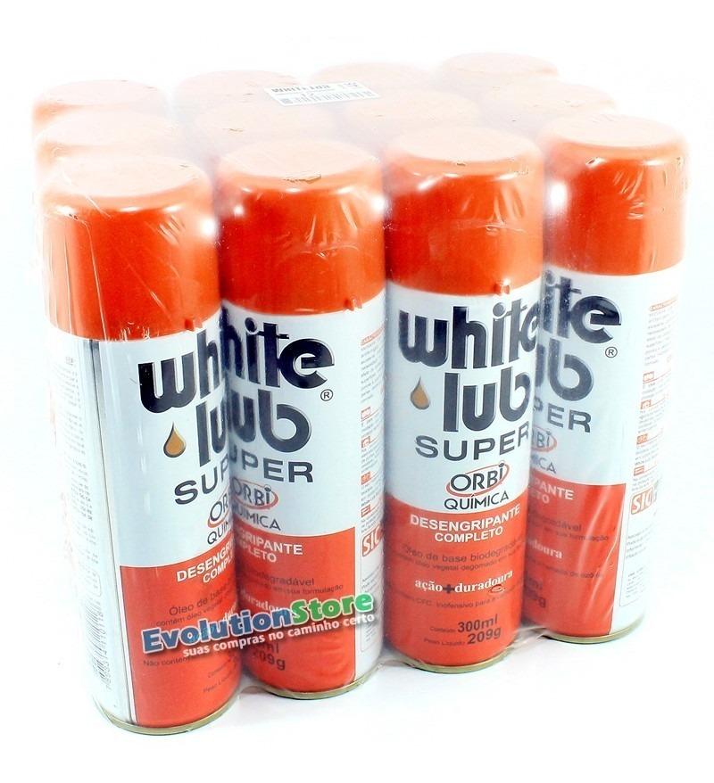 Caixa 12 Unidades Spray Desengripante Orbi White Lub Super 300ml  - EvolutionStore - Peças e Acessórios Automotivos