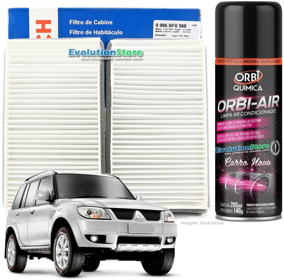 Filtro De Cabine Ar Condicionado Bosch Mitsubishi Pajero Tr4 + Spray Higienizador  - EvolutionStore - Peças e Acessórios Automotivos