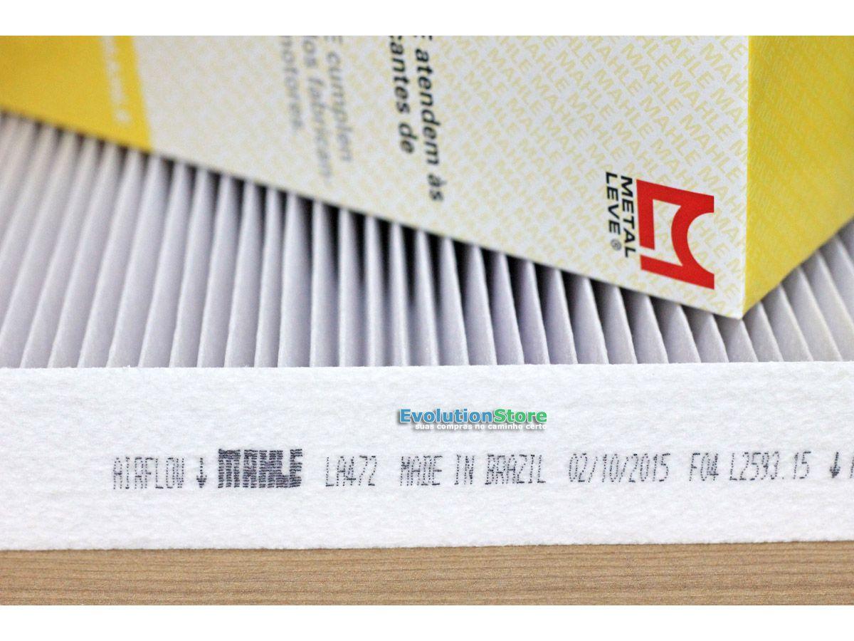 Filtro De Cabine Ar Condicionado Cobalt Cruze Onix Spin - Mahle MetalLeve LA472  - EvolutionStore - Peças e Acessórios Automotivos
