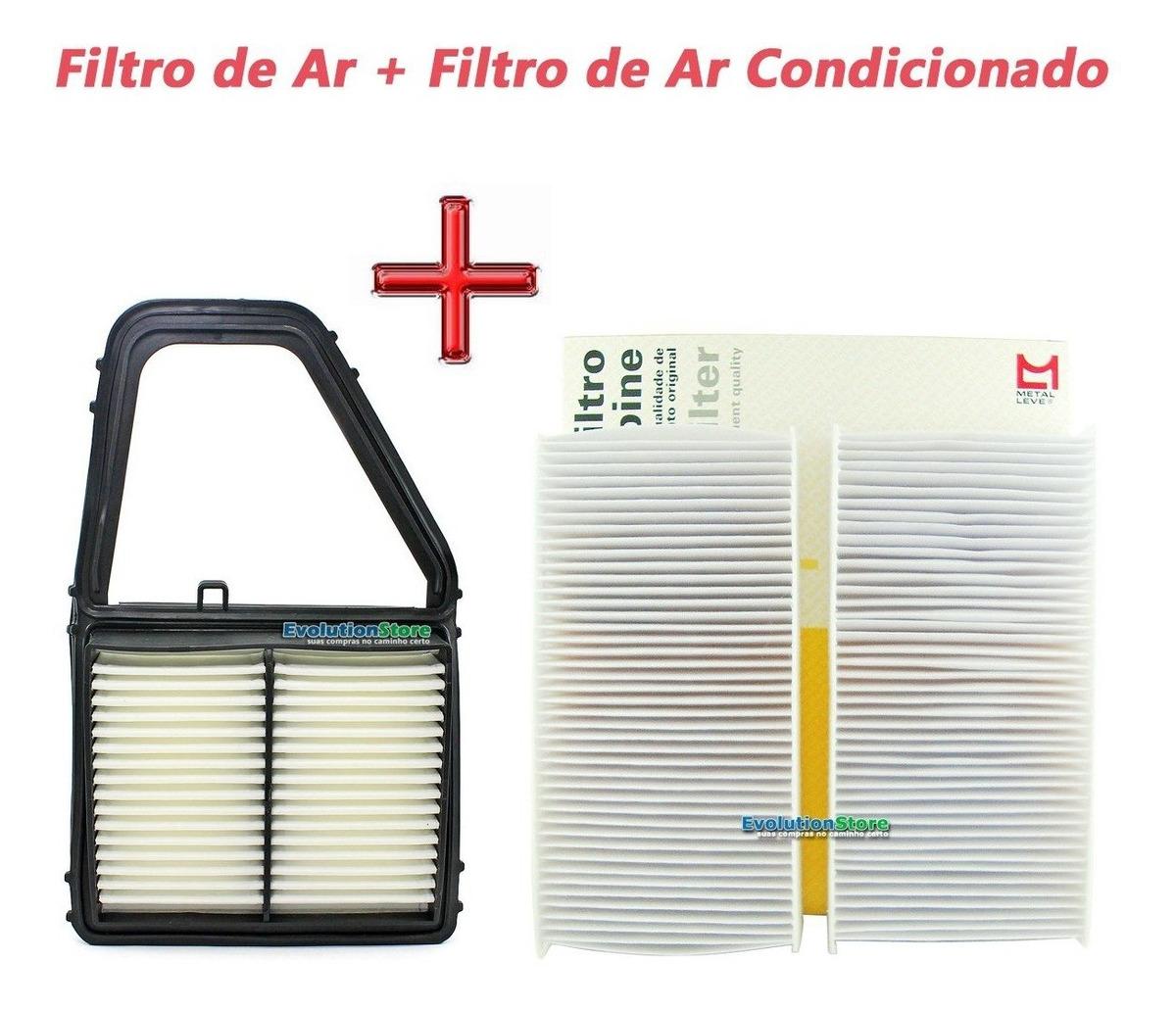 Filtro De Cabine Ar Condicionado + Filtro Ar Motor Honda Civic 1.7 16v 2001 2002 2003 2004 2005  - EvolutionStore - Peças e Acessórios Automotivos