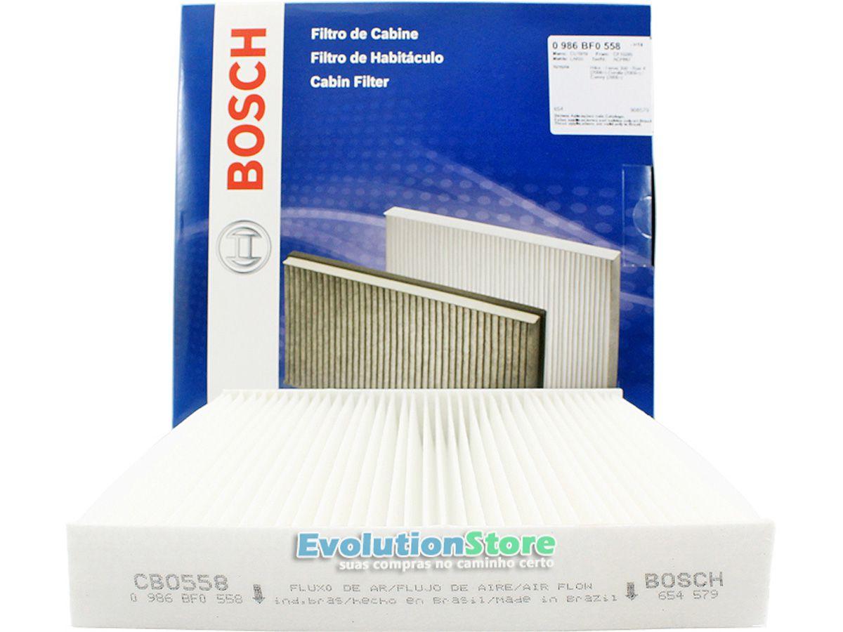 Filtro De Cabine Ar Condicionado Toyota Corolla 2015 À 2019 - Bosch 0986BF0558  - EvolutionStore - Peças e Acessórios Automotivos