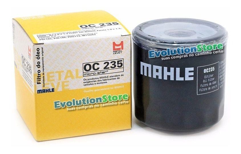 Filtro de Óleo Lubrificante Mahle MetalLeve OC235  - EvolutionStore - Peças e Acessórios Automotivos