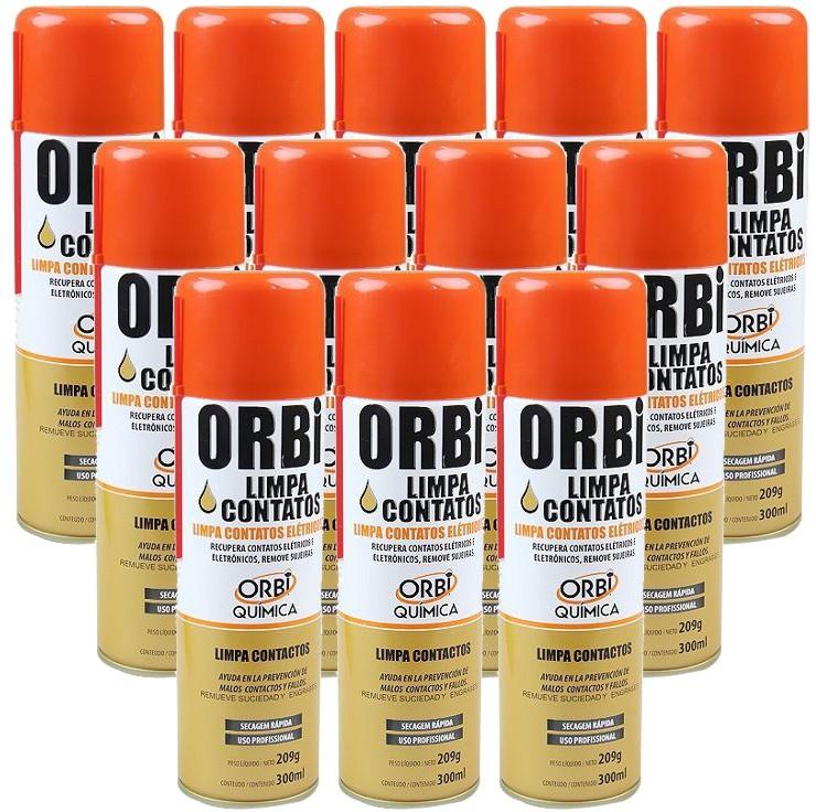 Kit 12 Unidades De Spray Limpa Contatos Orbi Química 300ml  - EvolutionStore - Peças e Acessórios Automotivos