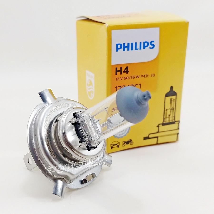 KIT 2 Lâmpadas Philips Farol Baixo / Alto Toyota Etios H4 12v 60/55w 12342C1  - EvolutionStore - Peças e Acessórios Automotivos