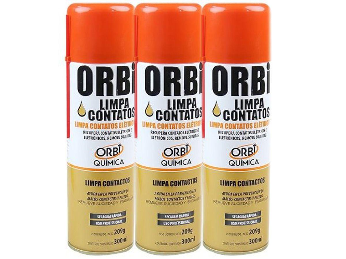 Kit 3 Unidades De Spray Limpa Contatos Orbi Química 300ml  - EvolutionStore - Peças e Acessórios Automotivos