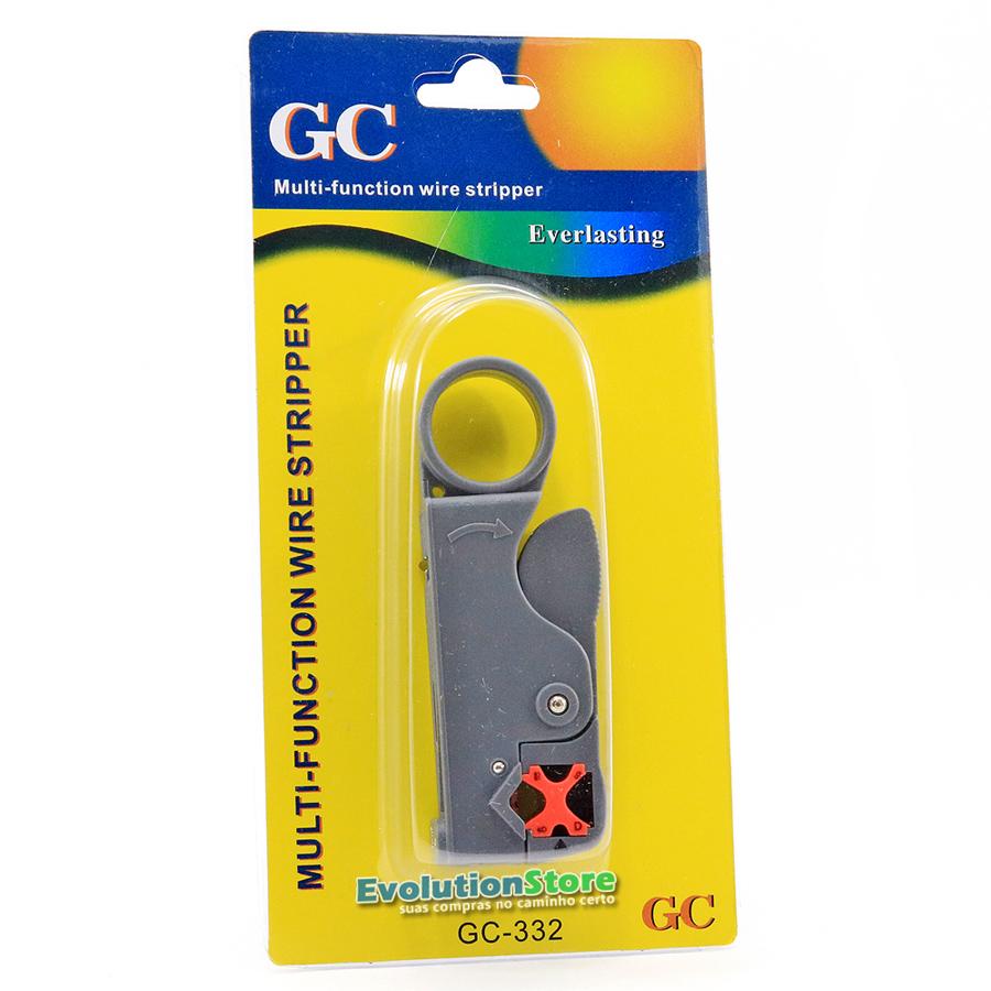 Kit Alicate Compressão + Decapador Crimpar Coaxial Rg6 Rg59 GC332  - EvolutionStore - Peças e Acessórios Automotivos