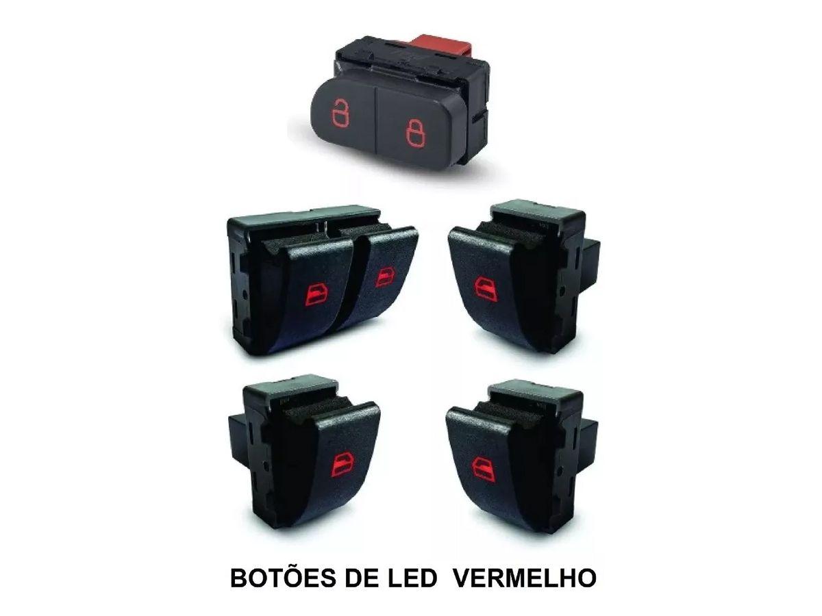 Kit Botão Interruptor De Vidro Elétrico Gol G5 G6 4 Portas  - EvolutionStore - Peças e Acessórios Automotivos