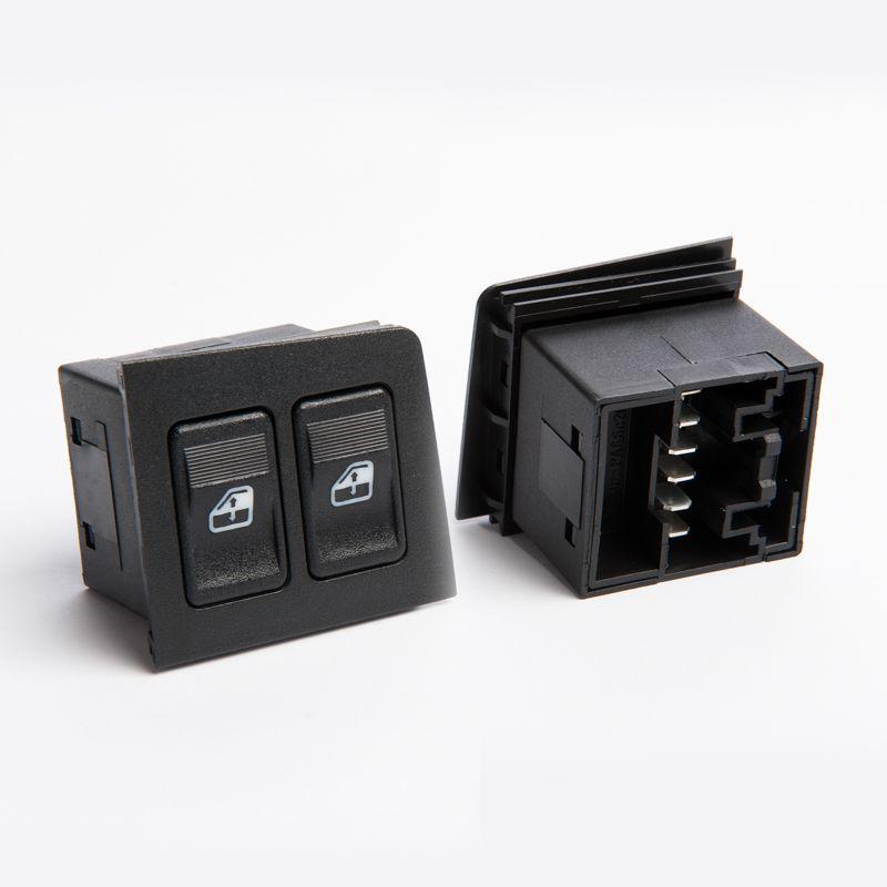 Kit Botão Interruptor Vidro Elétrico Fiat Uno Antigo Motorista + Passageiro (Iluminação Verde)  - EvolutionStore - Peças e Acessórios Automotivos