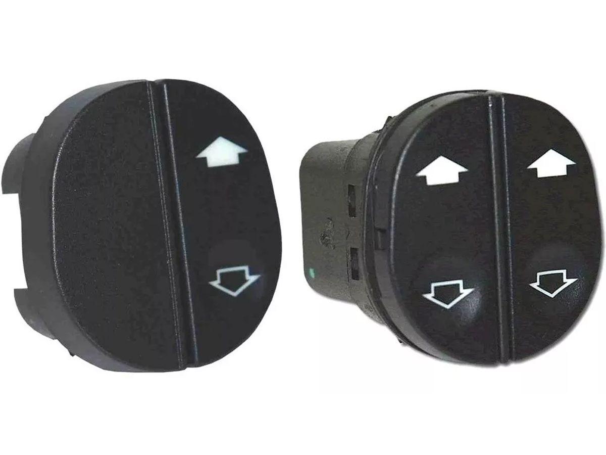 Kit Botão Interruptor Vidro Elétrico Ford Ka Fiesta Courier 2 Lados (Lado Duplo Motorista + Lado Simples Passageiro)  - EvolutionStore - Peças e Acessórios Automotivos