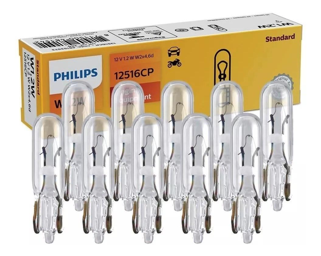 Lâmpada Philips Esmagadinha W1.2w 12v W2x4.6d Luz Painel Caixa 10 Unidades  - EvolutionStore - Peças e Acessórios Automotivos
