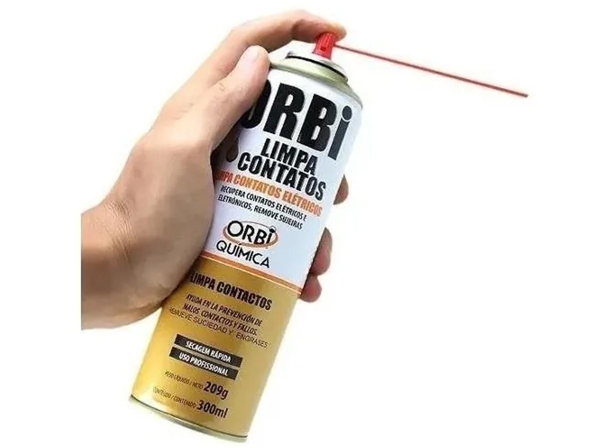 Spray Limpa Contatos Elétricos Orbi Química 300ml  - EvolutionStore - Peças e Acessórios Automotivos