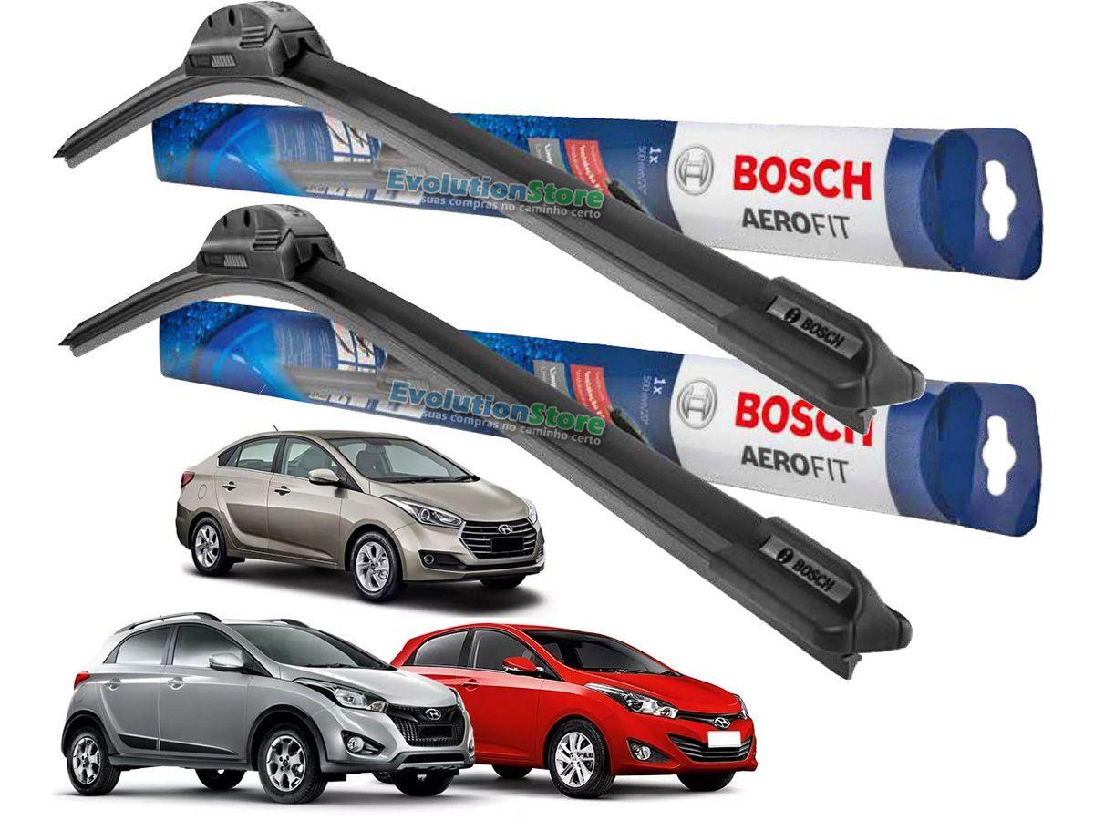 Par De Palheta Limpador Para-brisa Bosch Aerofit Hyundai HB20 HB20x HB20S  - EvolutionStore - Peças e Acessórios Automotivos