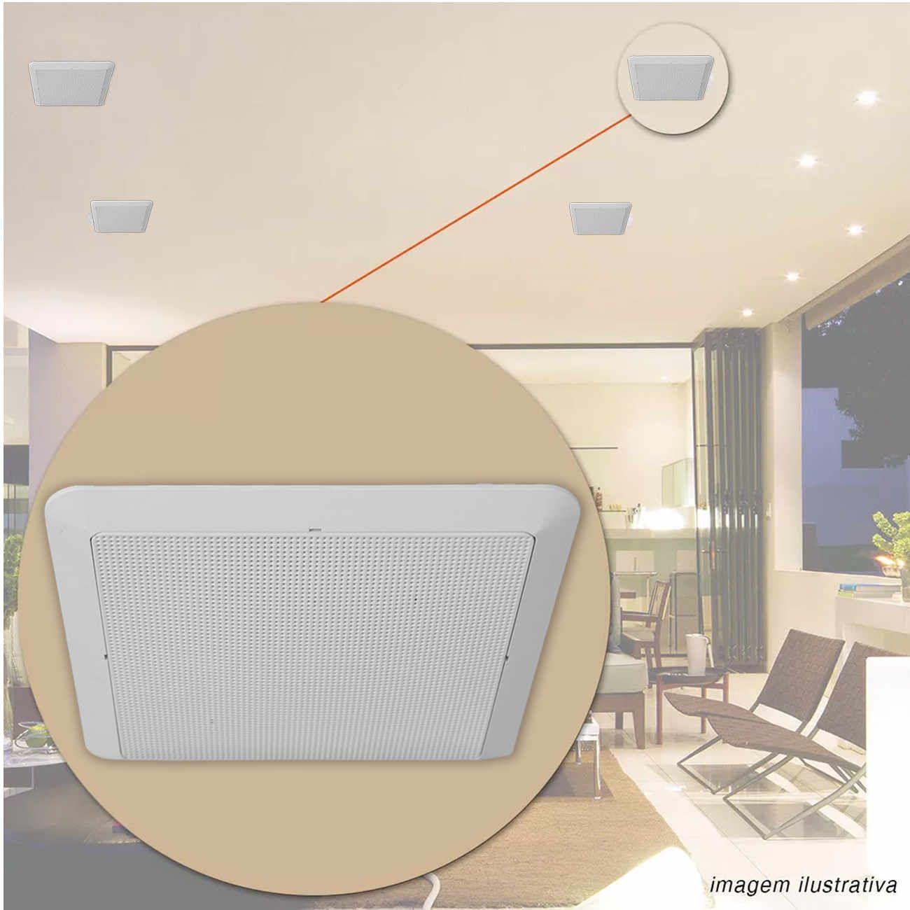 Par Arandela Quadrada Com Alto Falante Jbl Flex 50w Som Ambiente Gesso Embutir Teto  - EvolutionStore - Peças e Acessórios Automotivos